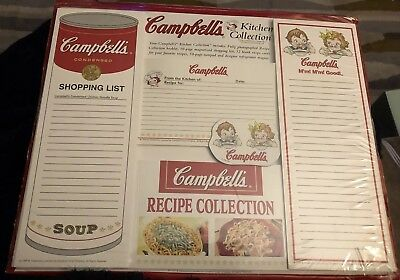 CAMPBELL's  KITCHEN COLLECTION, shopping lists, recipes cards, magnet, notepad
