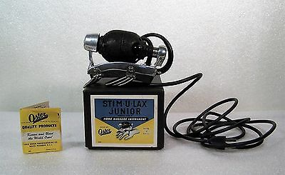 Oster Stim-U-Lax Junior Model 4 Massager Box Working Vintage EUC Made in USA