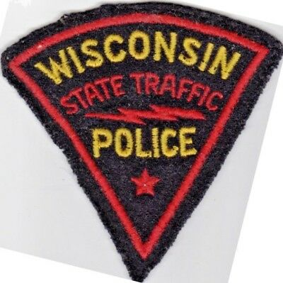 1953-54 vintage WISCONSIN STATE TRAFFIC POLICE US Police patch