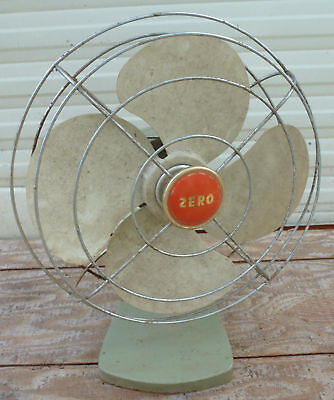 "16"" Vintage McGraw Edison ZERO 12494 Electric 12"" Oscillating Fan table"