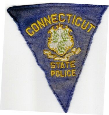 Obsolete 1940-68 vintage CONNECTICUT STATE POLICE US Police patch