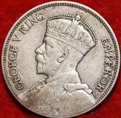 1933 New Zealand One Florin Silver Foreign Coin