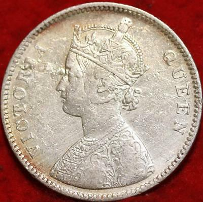1862 British India Silver Rupee Foreign Coin
