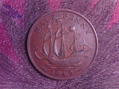 Great Britain   Half  Penny  1949
