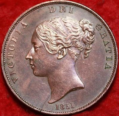 1851 Great Britain Penny Foreign Coin