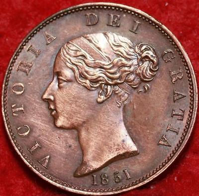 1851 Great Britain 1/2 Penny Foreign Coin