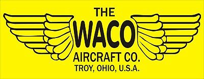 A196 Waco Aircraft Co Airplane banner hangar garage decor signs