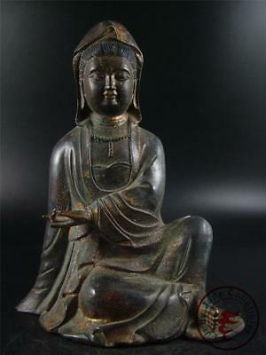 Very Large Old Chinese Tibet Bronze Kwanyin Image Statue Qing Dynasty