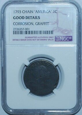 1793 NGC Good Details S-4 America Periods Chain Cent