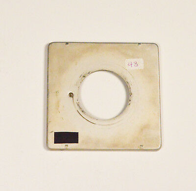 Graflex lens board for 4x5 Speed/Crown Graphic - 42mm lens mounting hole