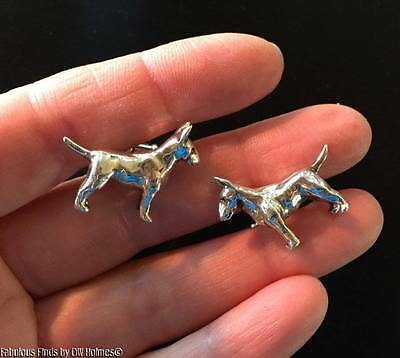 Finest Quality Sterling Silver BULL TERRIER Dog Cufflinks ORB Bade Rebajes AKC