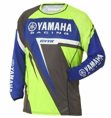 Yamaha Racing Mx Jersey Adults Motocross Dirt Offroad Genuine Top #a17-Gt112-G1