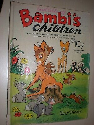 Dell Four Color Comics # 30, Bambi's Children, Walt Disney, 1943