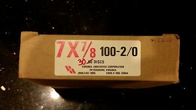7x7/8 100Grit EdgerDisc,No 006-70894,  Virginia Abrasives Corp,PK30