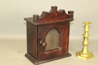 The Best Early 19Th C Dated 1824 Watch Hutch Or Holder In Original Red Paint