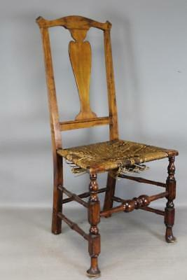 Rare 18Th C Norwich Ct Queen Anne Chair With Rare Carved Queen Anne Duck Feet