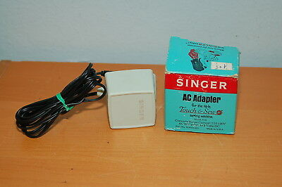 Singer Touch Sew Childs toy sewing machine AC adapter power cord 67A box vintage