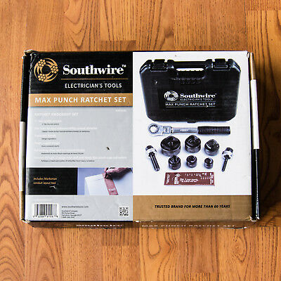 """Southwire Max Punch Ratchet Knockout Set - 1/2"""" to 2"""" - MPR-01SD - Brand New"""
