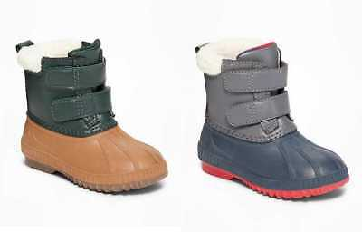 New Toddler Boys 6 7 8 10 Old Navy Color Blocked Snow Duck Boots Shoes