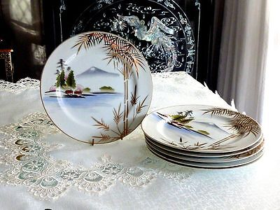 Exquisite Vintage Japanese  Porcelain Hand Painted Kutani   Large Dinner Plate