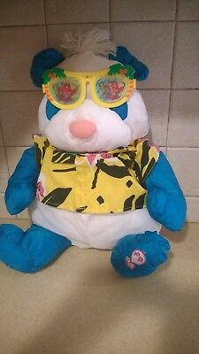 Vintage Fisher Price Puffalumps Panda Bear Wild Thing COMPLETE With Glasses 80s