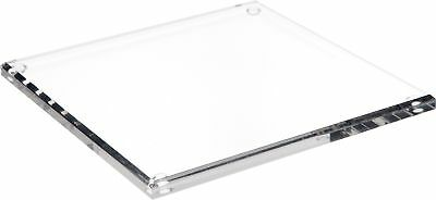 """Plymor Brand Clear Acrylic Square Beveled Display Base, .5"""" H x 9"""" W x 9"""" D New"""