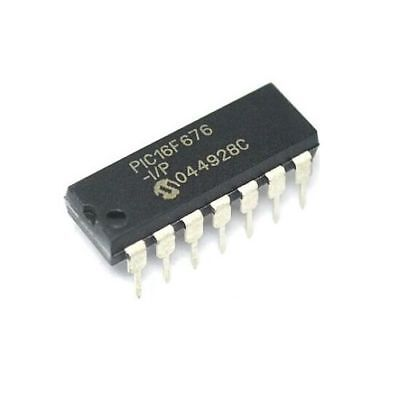 10 Pcs PIC16F676-I/P PIC16F676 16F676 IC MCU Flash 1K W/AD 14-DIP