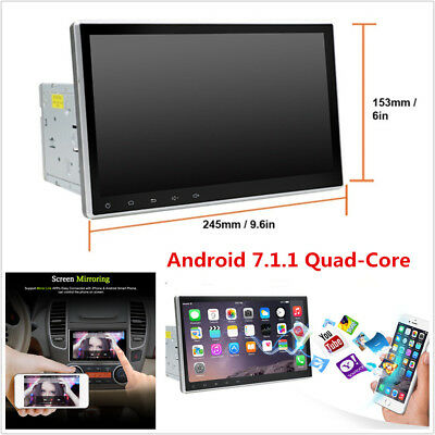Quad-Core Android 7.1 Double 2Din 1080P HD Touch Car GPS Navigation Stereo Radio