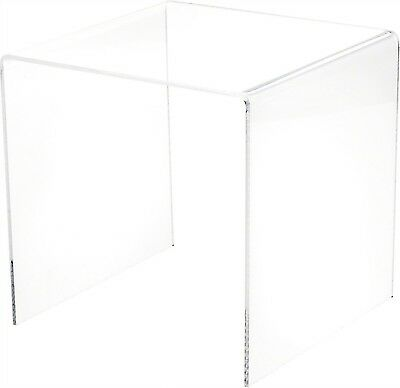 """Plymor Brand Clear Acrylic Square Riser, 7"""" H x 7"""" W x 7"""" D (1/8"""" thick) New"""