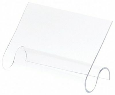 """Plymor Brand Clear Acrylic 2-Shoe Display Rest, 7"""" W x 3.25"""" D x 4.25"""" H New"""