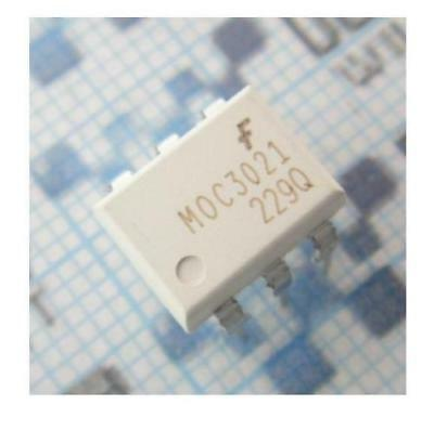 100 Pcs MOC3021 OPTOISO 400VDRM Triac Out 6-Dip