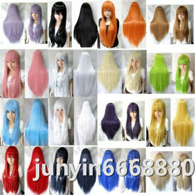 New Fashion Long Straight Cosplay Wig 80cm Free shipping