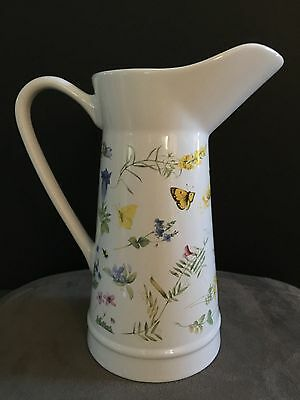 Hallmark 1999 Marjolein Bastin Natures Sketchbook Wildflower Meadow Pitcher