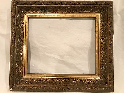 Antique 12x10 Gold Gilded Gilt Baroque Picture Frame c 1920s