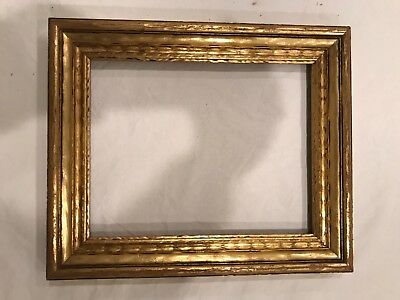 Antique 10x8 9x7 Arts & Crafts Style Gold Leaf Gilt Small Picture Frame