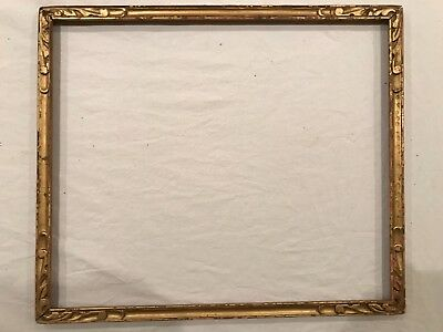 Antique 18x15 Newcomb Macklin Style Arts & Crafts Gold Picture Frame