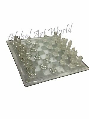 Collectable Elegant Glass Chess Set Figurines / Complete Chess Game CB 06