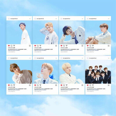 8pcs/set KPOP Bangtan Boys BTS Suga Jimin V PVC Ins Transparent Card Photo