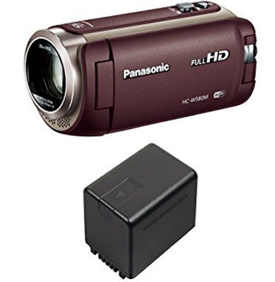Panasonic HD camcorder W580M 32GB Brown HC-W580M-T with battery
