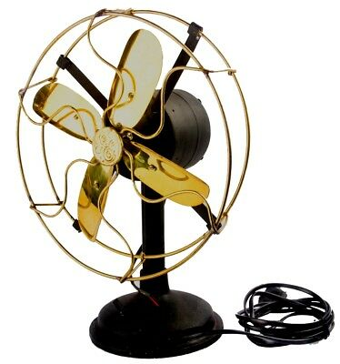 Antique Vintage Collectible Home Décor Old Styl Functional Brass Table Fan BF 02