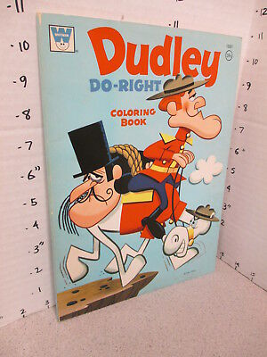 DUDLEY DO-RIGHT 1972 Jay Ward 60p cartoon comic coloring book unused Bullwinkle