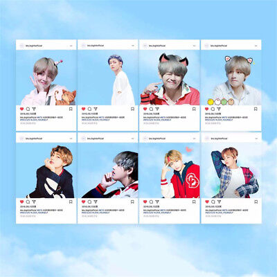 8pcs/set Kpop Bangtan Boys BTS V Ins PVC Transparent Card KimTaeHyung Screenshot
