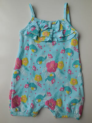 BNWOT Baby girl cotton romper size 000 Fits 0-3 mths