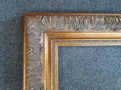 Picture Frame- 8x10 -Vintage Antique Style Ornate Old Gold Baroque #1360G