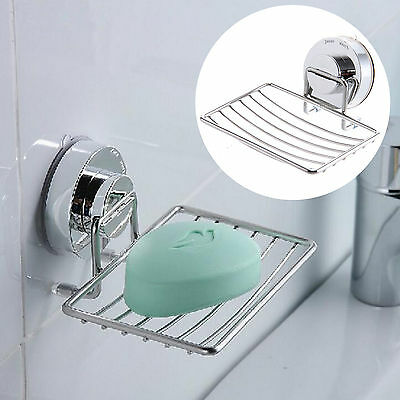 Non Rust STRONG Suction Stainless Steel Bathroom Shower Soap Holder Dish Rack