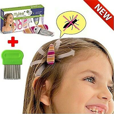 (Color B) Lice Prevention head Clips, Nit Treatment + Comb, Patented Orga... New