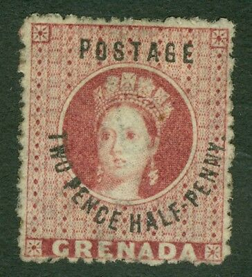 SG 22 Grenada 1881. 2½d rose-lake. Mounted mint CAT £75