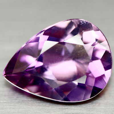 12.74 Ct Natural! Purple Clr Change To Pink Brazilian Amethyst Pear