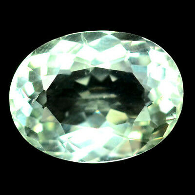 5.57 Ct Aaa! Natural! Light Green Uruguay Amethyst Oval