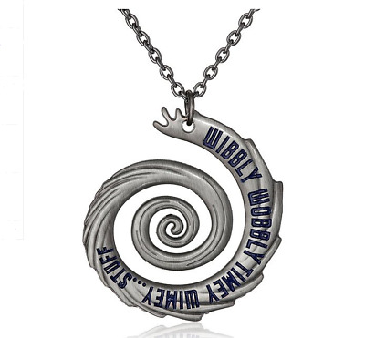 Doctor Who 3D Pewter Tall PENDANT Silver Long Pendant Necklace